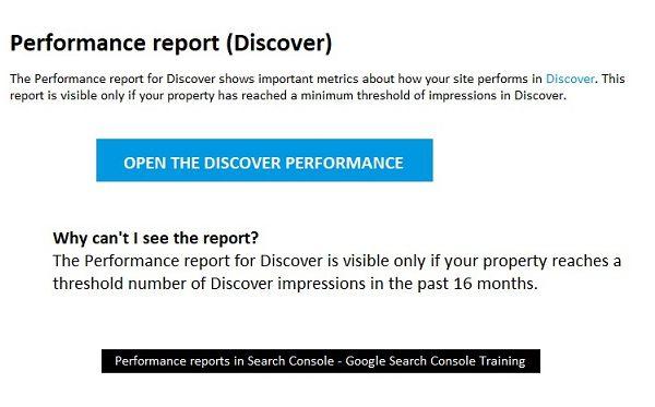 گزارش عملکرد در وب مستر